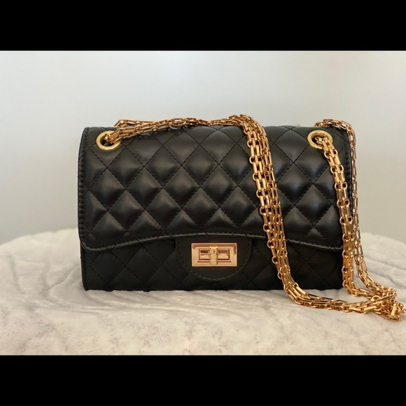 Brand new black crossbody purse